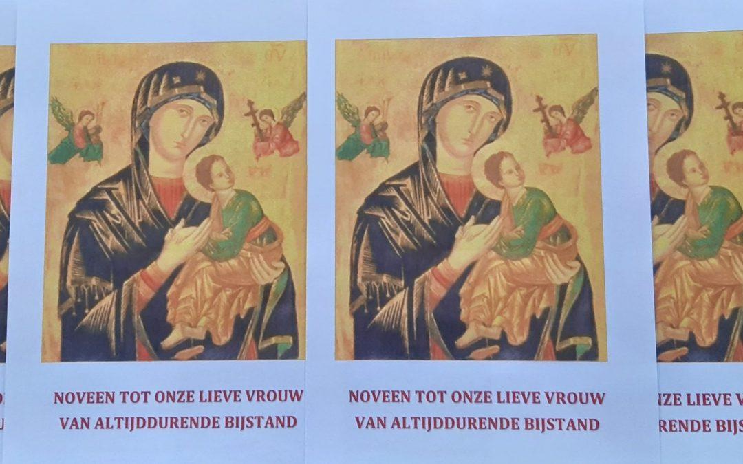 Vanaf 1 april bidden we de Noveen tot Onze Lieve Vrouwvan Altijddurende Bijstand